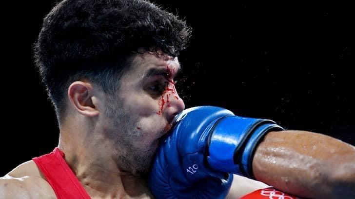 younes nemouchi tko blessure tokyo boxe JO2020