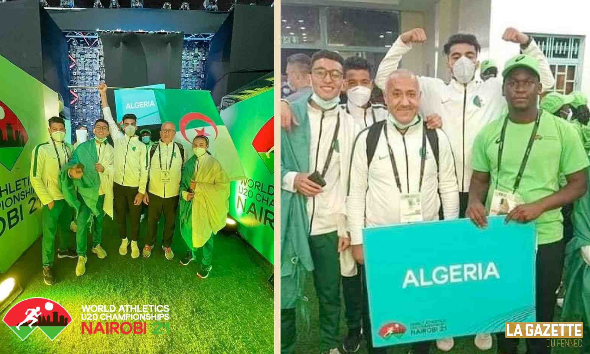 algerie gouaned nairobi 2021 athletics u20 tunnel