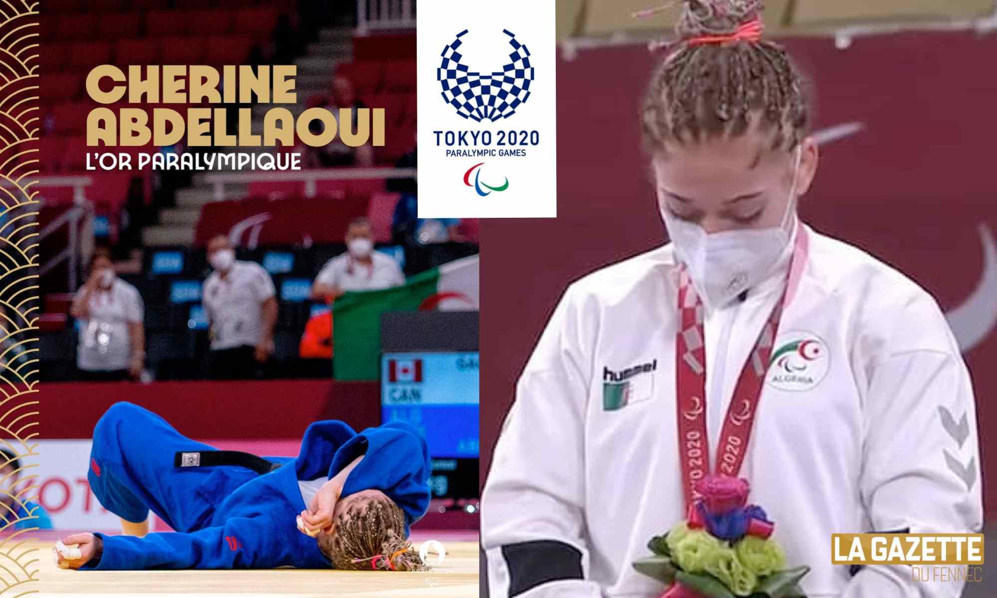 cherine abdellaoui or paralympiques jo tokyo 2020
