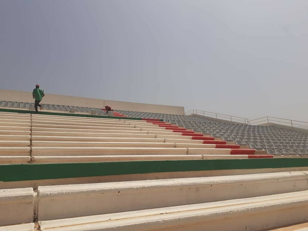 stade tchaker blida aout 2021 pose siege travaux