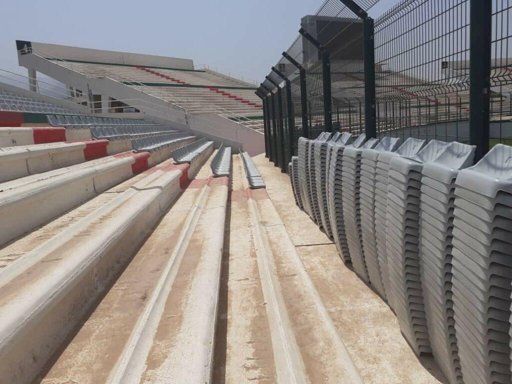 stade tchaker blida aout 2021 travaux siege nouveaux