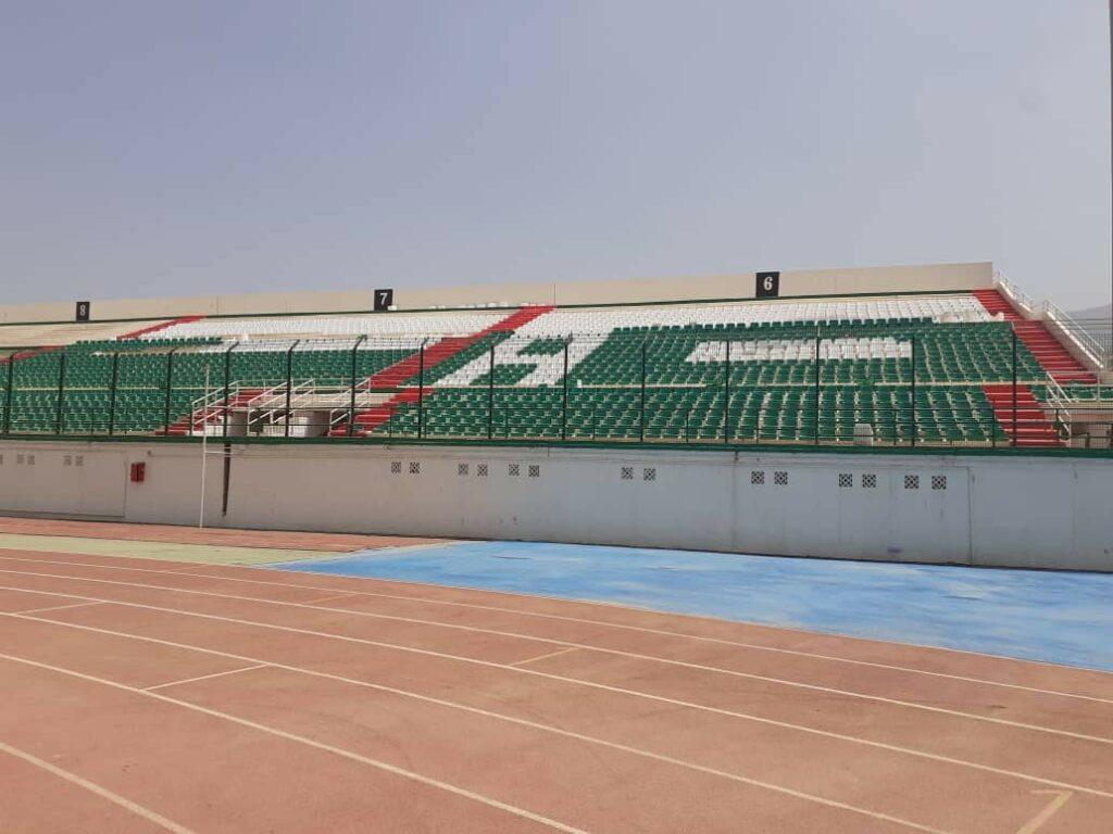 tribune siege stade tchaker blida aout 2021
