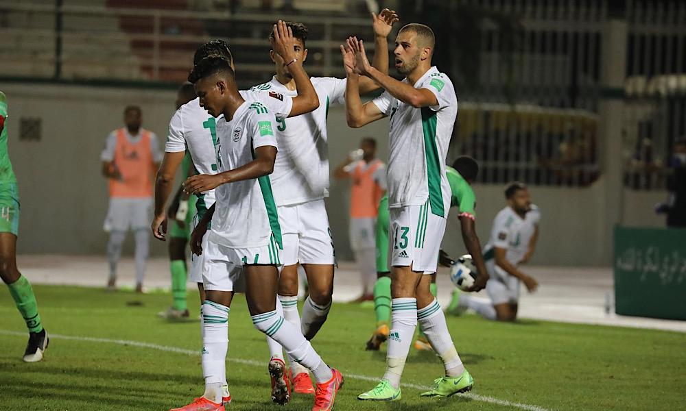 Algérie Djibouti célébration Slimani Bounedjah Boudaoui