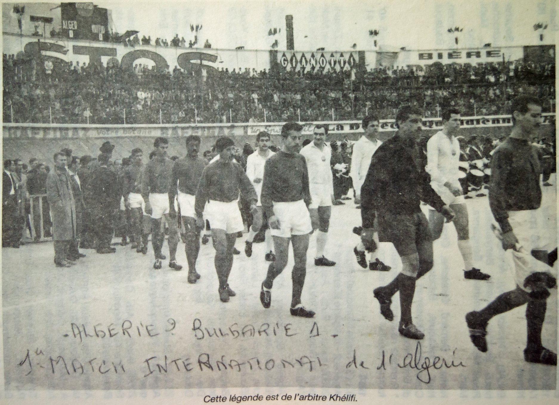algerie bulgarie 6 janvier 1963 premier match EN histoire